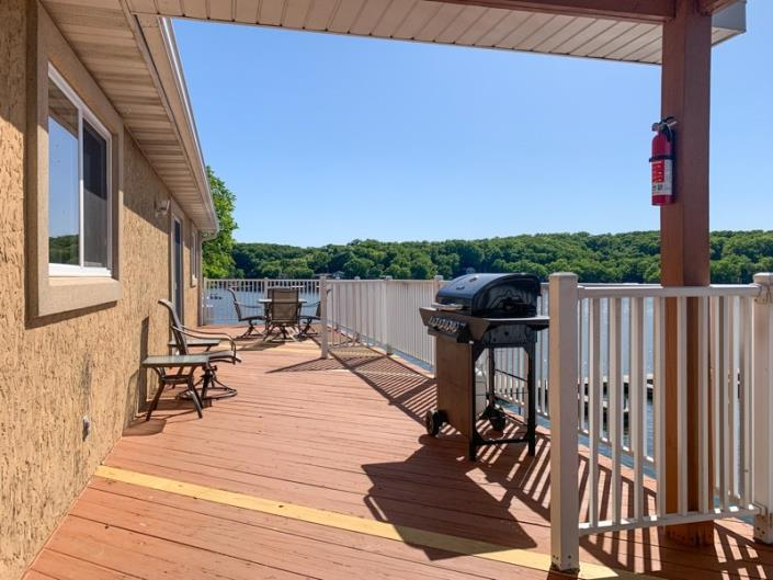 Condo overlooking Lake of the Ozarks, complete with outdoor gas grills