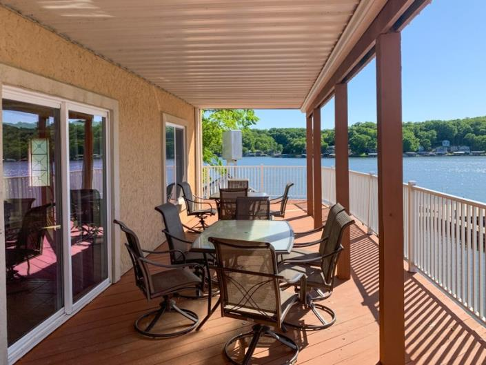 Beautiful view of Lake of the Ozarks from the deck of our condo rental